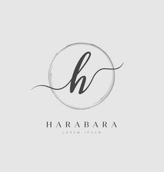 Elegant initial letter type h logo vector