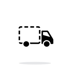 Empty delivery truck icon on white background vector image