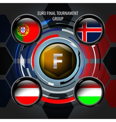European Flag Buttons F vector image