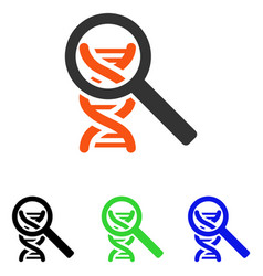 Explore dna flat icon vector