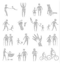 father day icon set concept vector image