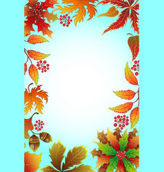 frame with autumn foliage vector image