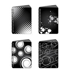 grunge notebooks vector image
