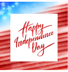happy independence day america 4th july vector image