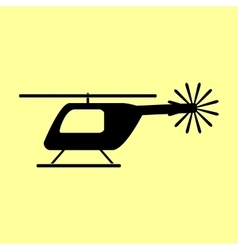 Helicopter sign Flat style icon vector image