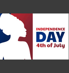independence day in united states america usa vector image
