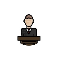 Law flat icon vector image
