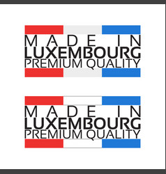 made in luxembourg icon premium quality sticker vector image