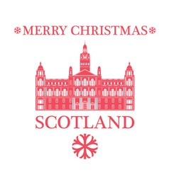 Merry Christmas Scotland vector