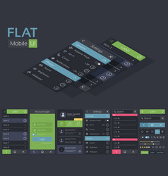 mobile flat ui design template vector image