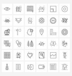Modern line 36 simple line icons intersect vector