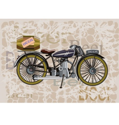 Motorcycle and a keg beer vector