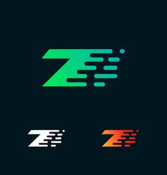 Number 7 modern speed shapes logo design vector