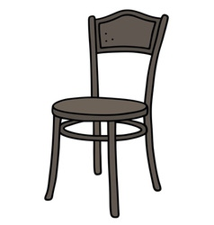 Old dark wooden chair vector image