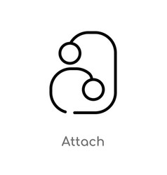 Outline attach icon isolated black simple line vector
