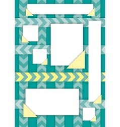 Pieces of torn lined note paper vector image