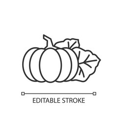 Pumpkin pixel perfect linear icon vector