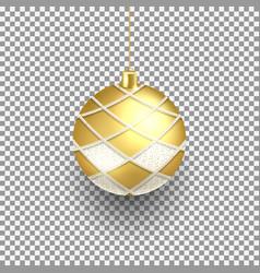 realistic christmas ball vector image
