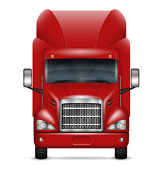 Realistic red truck vector