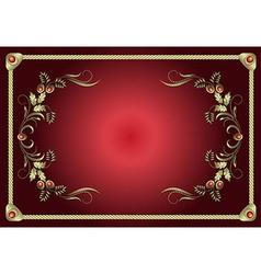 Red Frame Floral vector
