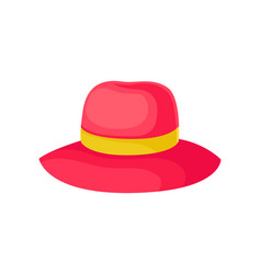 red hat for women on white vector image