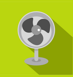 Retro electric fan icon flat style vector