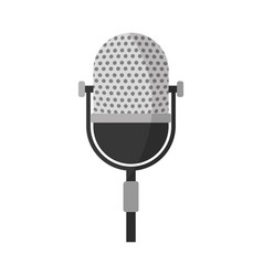 Retro stage microphone vector