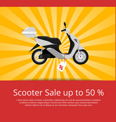 Scooter sale advertising in flat style vector