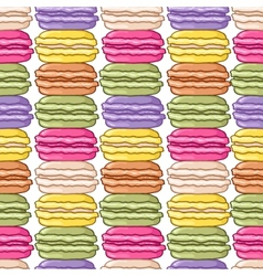 Seamless macaroon background vector