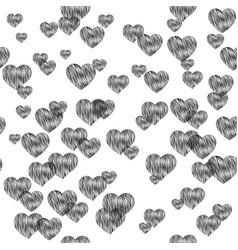 Sensuality pattern with hearts vector