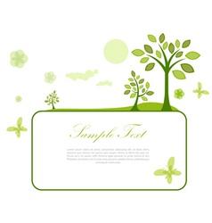 sketchy natural card vector image