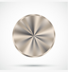 Steel round button vector