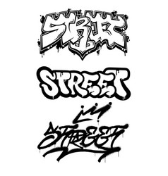 Street graffiti set vector
