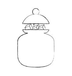 sugar pot with cubes vector image