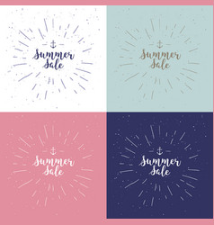 Summer sale set drawn lettering summer vector