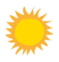 Summer sun drawing icon vector