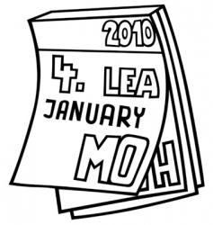 Tear off calendar vector