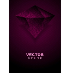 Tech purple background with brilliant vector