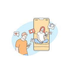 technology online communication social media vector image