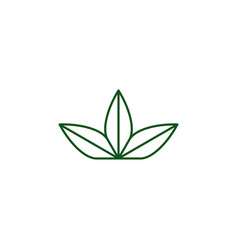 three leaves logo icon vector image