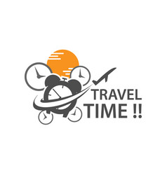 travel time vacation weekend logo design concept vector image