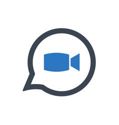 Video conversation icon vector