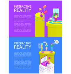 Virtual reality text on posters vector