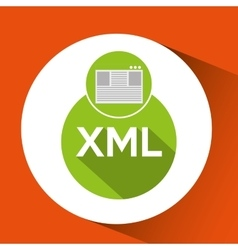 Web development page code xml vector