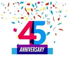 Anniversary design 45th icon anniversary vector image vector image