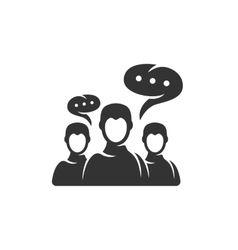 Discussion icon isolated on a white background vector image vector image