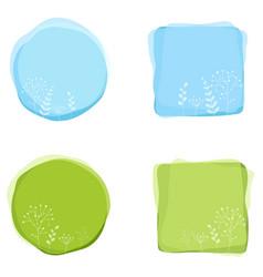floral decorative badges vector image