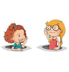 Girls talking vector image vector image