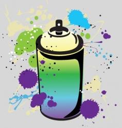 grafitti spray can vector image