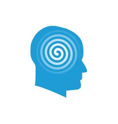 head with spiral logo symbol vector image vector image